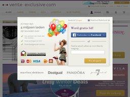 Vente-Exclusive schermafdruk