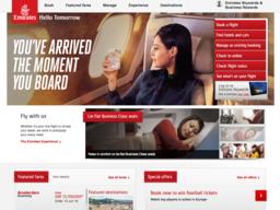 Emirates schermafdruk