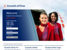 Brussels Airlines schermafdruk