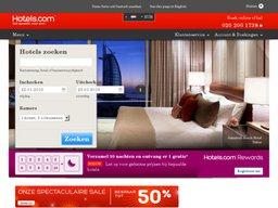 Hotels.com schermafdruk