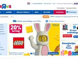 Toys R Us schermafdruk