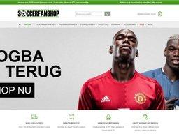 Soccerfanshop schermafdruk